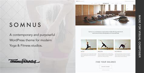 themeforest yoga somnus yoga fitness studio wordpress theme by