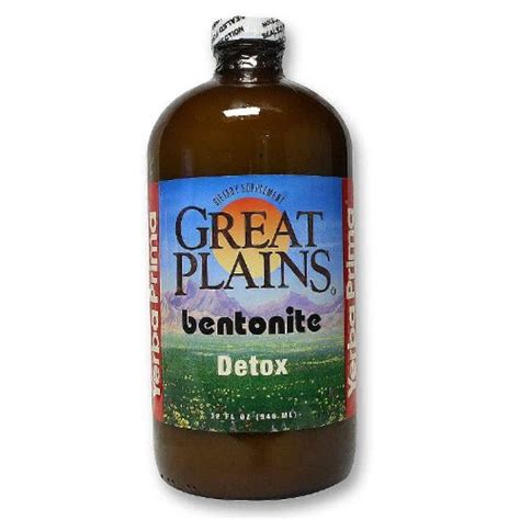Great Plains Bentonite Detox Best Time To Take It by Yerba Prima Bentonite Detox 32 Ounce Glass Bottle