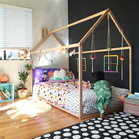 wooden house kids bed by grattify notonthehighstreet com