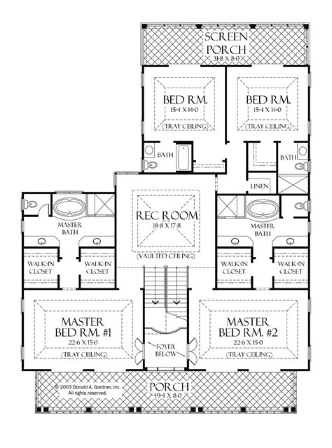 One Level House Plans With Two Master Suites Arts Bedroom And Bedrooms Interalle Com
