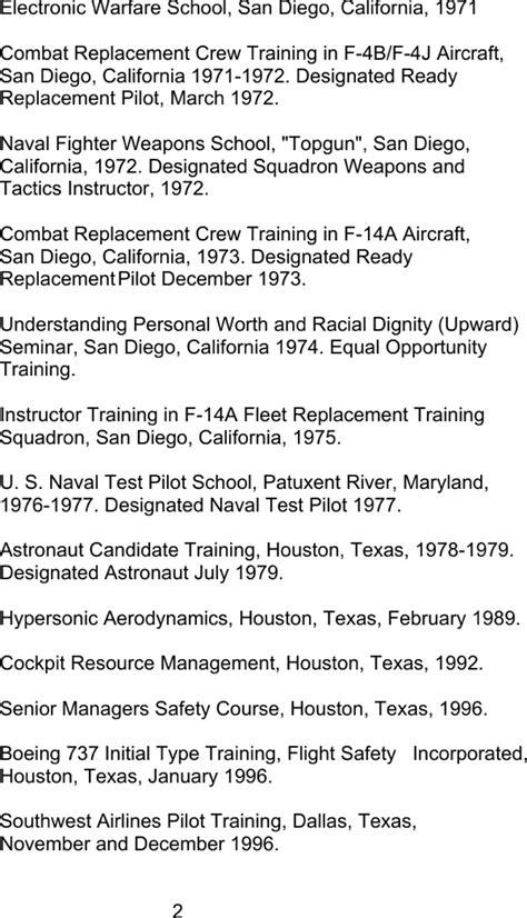 basic pilot resume templates   page