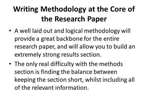 how to write methodology in research paper apa research paper results section