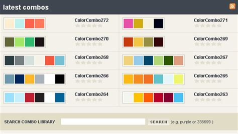 website colour combination 45 free and effective color palette and color scheme