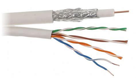 Kabel Rg 6 95 Falcom coax combikabel rg6 geschikt voor cai tv en satelliet utp cat 5e 25m non cpr