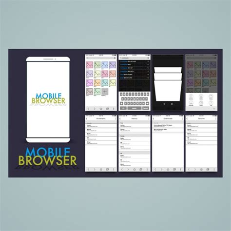 free mobile browser mobile browser design vector premium