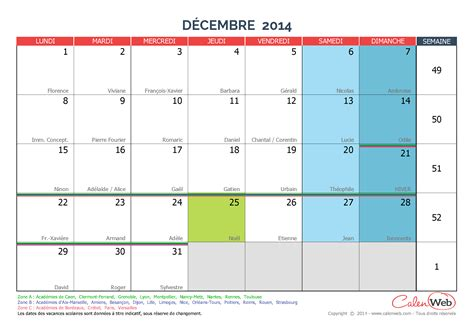 Calendrier Decembre 2014 Calendrier Mensuel Mois De D 233 Cembre 2014 Avec F 234 Tes