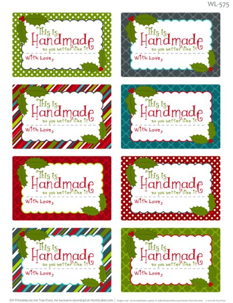 Handmade With Love Labels Template Christmas Labels Homemade Withlove 675 Made By Creative Label Made With Label Template