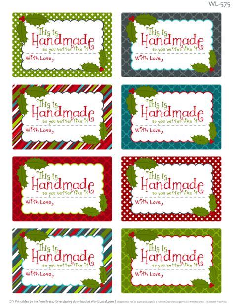 printable tags for homemade food gifts printable christmas labels for homemade baking