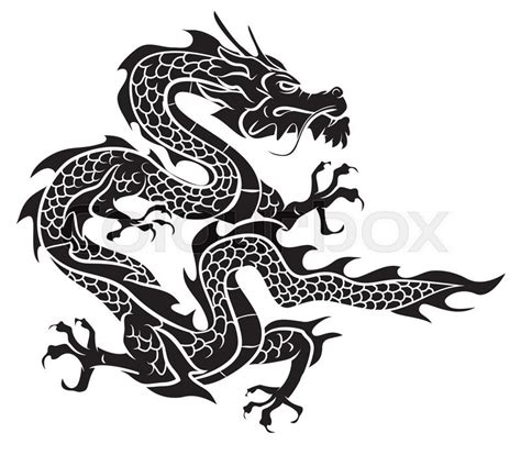 dragon stock vector colourbox