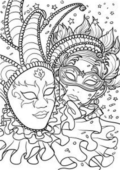 venetian masks coloring book for adults 1000 images about coloriage du carnaval on