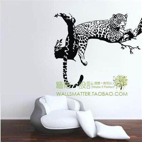 cute tiger leopard waterproof wall sticker home decor leopard spots puma animal wall stickers decoration decor