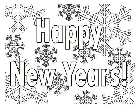 Happy New Year Coloring Pages Coloring Home New Year Coloring Page