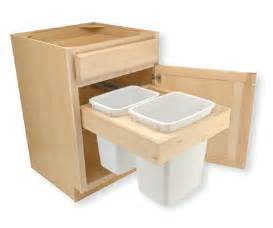 trash bin pull out drawer dimensions