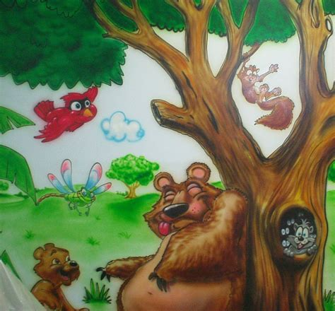 painting for kids cartoon characters or animals mural painting for the kids room