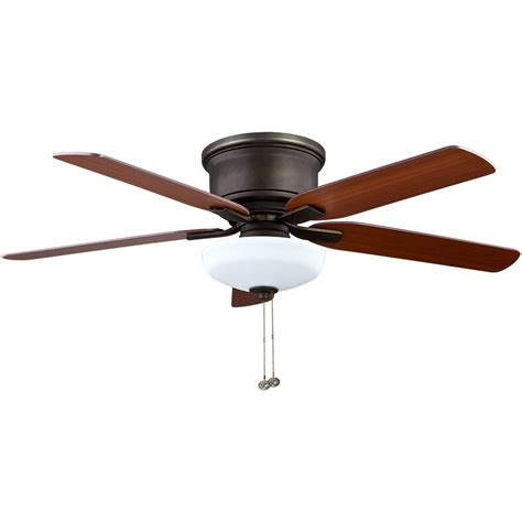 low hanging ceiling fan hton bay holly springs low profile 52 in led indoor