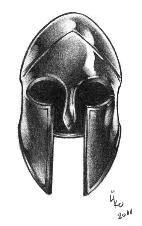 drawn warrior warrior helmet pencil and in color drawn