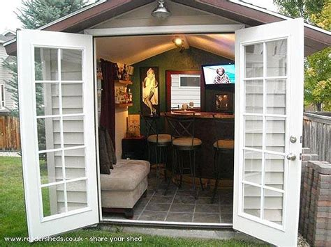 backyard pub kick his man cave outside bar shed my honeys place