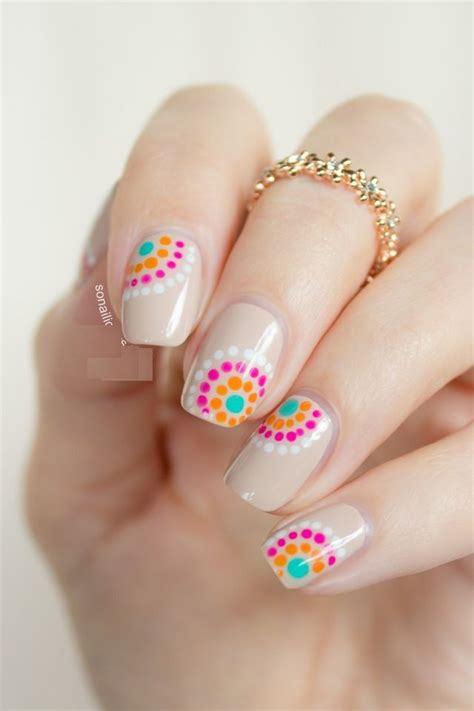 easy nail art bright colors most popular summer nail art 2015 11 fashion trend