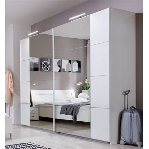 White Wardrobe With Sliding Doors by Lorna White Gloss 2 Door Sliding Wardrobe With Mirror