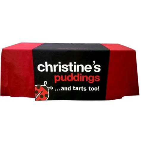 logo printed table runner printed tablecloth runner add your logo to a table runner