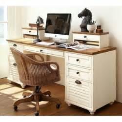 pottery barn rectangular desk set almond white