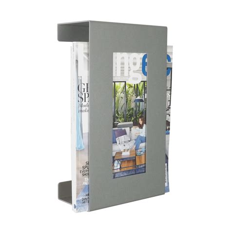 Wall Mounted Magazine Rack Uk by Wall Mounted Metal Magazine Rack Metallic