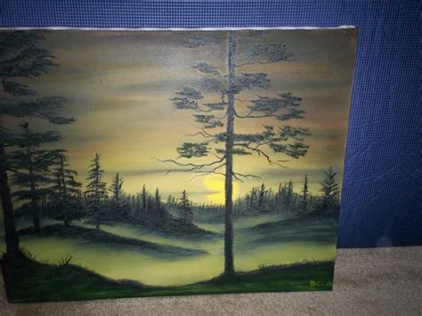 bob ross painting instructor course don belik bob ross 174 painting classes evergreens at sunset