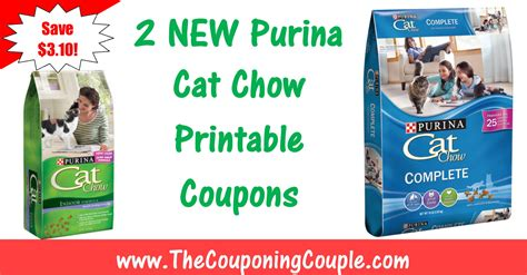printable cat food coupons purina 2 new purina printable coupons save 3 10 on cat chow