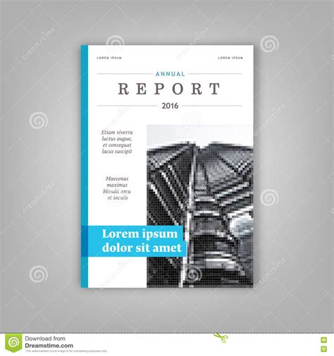 blue annual report leaflet brochure template a4 size