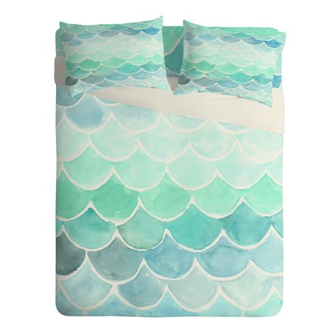 mermaid bedding mermaid scales sheet set wonder forest