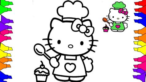hello kitty coloring pages youtube hello kitty coloring pages how to draw hello kitty