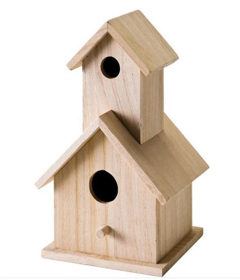 wooden 2 story birdhouse top quality unfinished customize