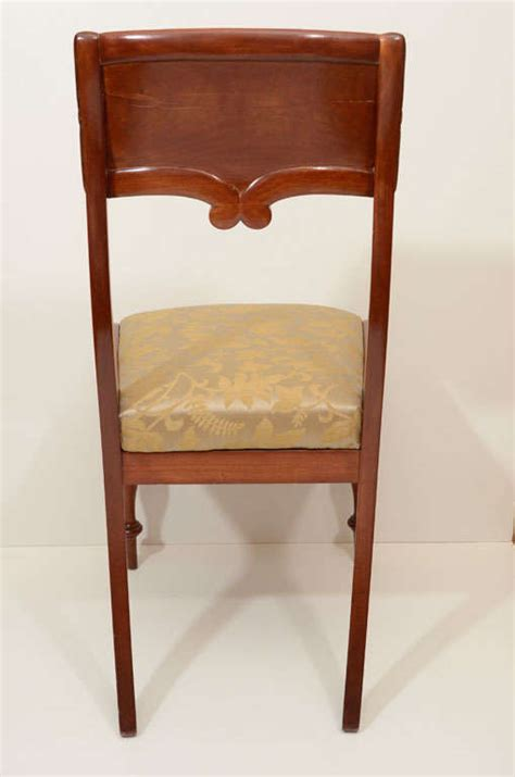 Mahogany Dining Chairs For Sale Set Of Six Mahogany Dining Chairs For Sale At 1stdibs