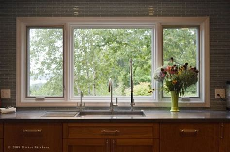 Windows That Open Out Ideas Large Open Window Above Kitchen Sink Home