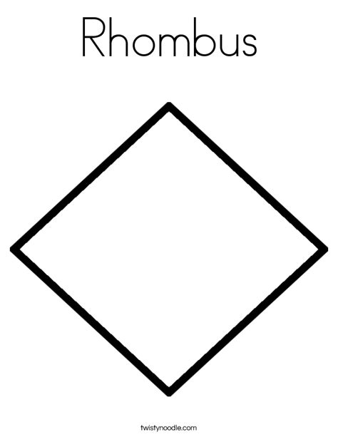 printable shapes rhombus rhombus images reverse search