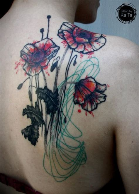 watercolor tattoos berlin tattoos watercolor sketch watercolour germany flower