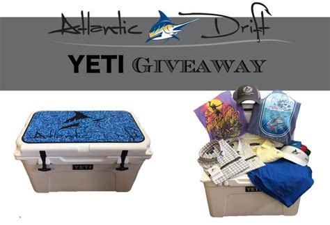 Yeti Cooler Giveaway - yeti cooler giveaway atlantic drift