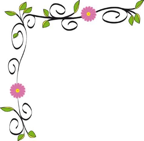printable borders with flowers floral border clip art at clker com vector clip art