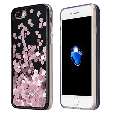 Water Glitter Iphone 7 Plus iphone 7 plus eseekgo floating liquid glitter for iphone 7 plus cover tpu bumper