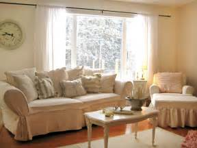 white shabby chic living space photos hgtv
