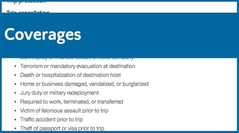 Travel Insurance Coverage Guide   Travel Insurance Review