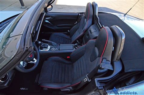 fiat spider leather seat covers 2017 fiat 124 spider abarth review test drive