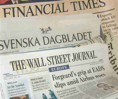 wall street journal review section news and newspapers links editors the media nelson