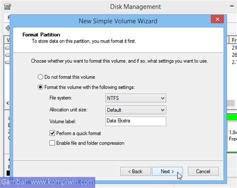 membuat virus format harddisk cara membuat partisi harddisk baru dan menambah
