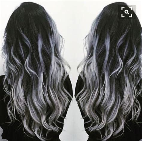 how to put grey highlights in black hair amazing hair color combos for everyone best hair color