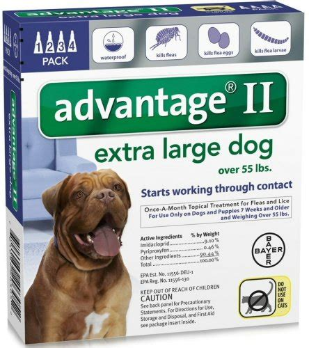 best topical flea treatment for dogs bayer advantage ii topical flea treatment for dogs 55 lbs 4 applications great