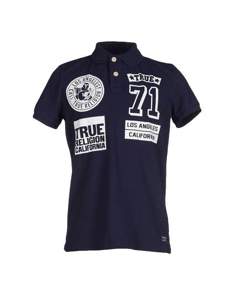 Tshirt Be True true religion polo shirt in blue for lyst