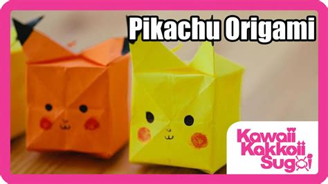Pikachu Origami - pikachu origami how to fold hd