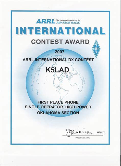 Arrl November Sweepstakes - index of jpk5lad assorted ham stuff k5lad awards