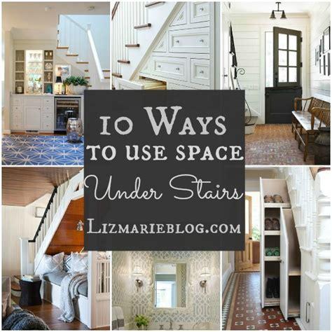 10 Ways To Decorate Under Stairs   Liz Marie Blog